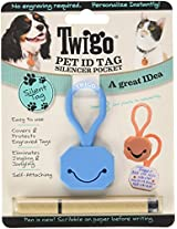 Twigo Pet ID Tags for Dogs and Cats, All Sizes, Blue
