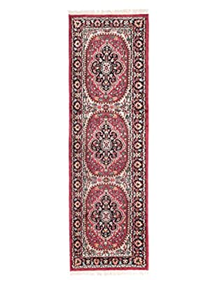eCarpet Gallery One-of-a-Kind Hand-Knotted Kashmir Rug, Dark Pink, 1' 11