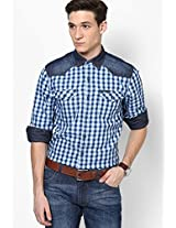 Blue Casual Shirts Lee