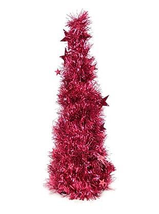 Árbol Navidad De Espumillón Rojo