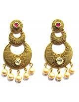 Shingar Ksvk Jewels Antique Polki Earrings danglers For Women (9078-9048-pe-ruby)