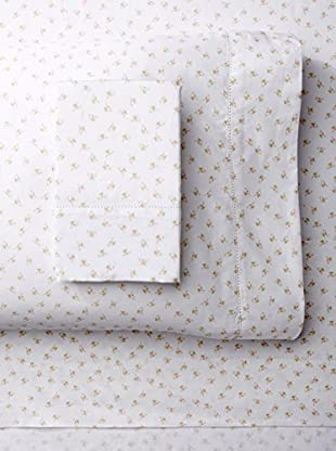 Mélange 400 TC Cotton Chic Floral Classic Hemstitch Sheet Set