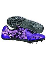 Nivia Spirit Running Spikes,UK 4 (Purple/Black)