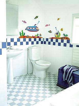 Vinilo Pegatina de pared submarinos para los niños Multicolores