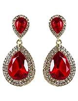 DV Golden Alloy Dangle and Drop Earrings For Women (DV26091996)