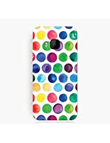 Polka Dots Water Colors HTC One M9 Cover