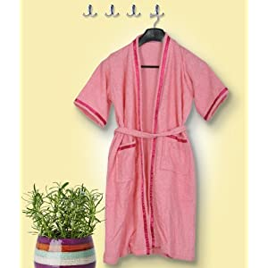 Skumars Love Touch - Adult Bath Robe - Pink
