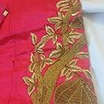 Multi Raw Silk Dress Material With Dupatta