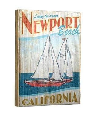 Artehouse Living the Dream Newport Beach Reclaimed Wood Sign