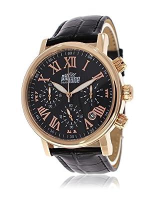 Pit Lane Uhr mit Miyota Uhrwerk Pl-1004-3 schwarz 42 mm