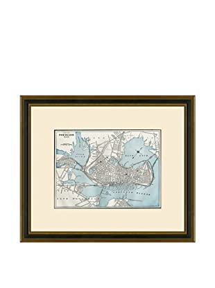 Antique Lithographic Map of Portland, 1883-1903