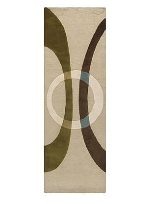 Chandra Bense Garza Rug, Beige/Olive/Brown, 2' 6