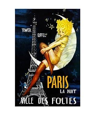 Paris Moon Giclée Canvas Print