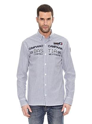 Bendorff Camisa Cuadros Manga Larga (Azul Marino)