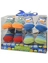 Baby Essentials Boys 4 Pack Sock Set - Monster