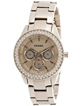 Fossil Stella Analog Rose Gold Dial Women's Watch - ES3003