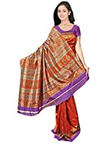 Kothari Printed Saree (KT089MB_Brown)