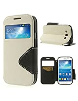 ROAR KOREA White Leather Diary View Flip Cover for Samsung Galaxy J1
