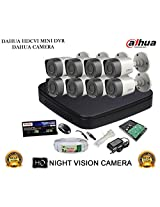 DAHUA HDCVI 8CH DH-HCVR4108C-S2 DVR + DAHUA HDCVI DH-HAC-HFW1000RP BULLET CAMERA 8Pcs + 1 TB WD HDD + 3+1 COPPER CABLE + POWER SUPPLY (FULL COMBO)