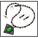 [N15J_001] Green Necklace Set