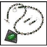 [N15J_001] Green Necklace Set