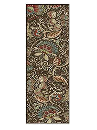 Universal Rugs Capri Transitional Runner, Brown, 2' x 8'