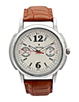 Calvino Men's White Dial Watch CGAS-1412118-M12_Brwn Wht