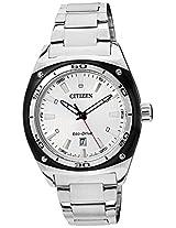 Citizen Eco-Drive Analog White Dial Men's Watch AW1041-53B