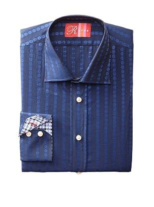 Rufus Men's Patterned Stripe Shirt (Blue)