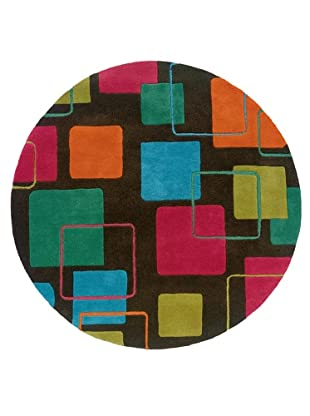 Trade-Am Vibrance Lines & Shapes Round Rug