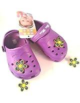 Mee Mee - Baby Crocks Purple(Size-19)
