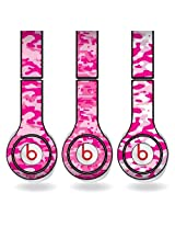 Pink Military Camouflage Print Set of 3 Headphone Skins for Beats Solo HD Headphones - Removable Vinyl Decal!