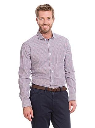 Cortefiel Camisa Clásica Rayas (Violeta)