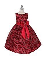 NeedyBee Red & Black Zebra Pattern Dress