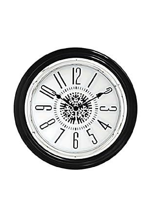 World Friendly World Moving Gear Wall Clock, Black