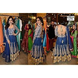 Yadurajexports Blue Neha Sharma Anarkali Suit