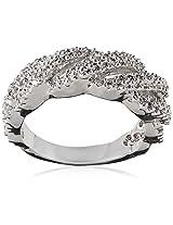 Shaze Ring for Women (Silver) (BRAIDED RING SLV 10335)