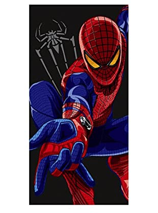 Secaneta Toalla Terciopelo Spiderman Black Negro