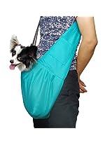 New Pet Sling-style carrier Dog Cat sling Bag -Sky Blue Medium Size