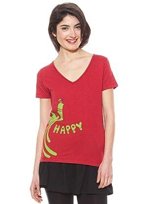 La Casita de Wendy Camiseta Happy Pájaro (Rojo)
