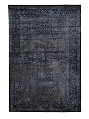 Darya Rugs Transitional Oriental Rug, Dark Purple, 9' 1