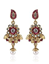 Alloy Earring With Rani Colour Stone NIKI Jewels