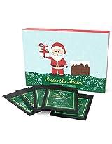 Santas Tea Treasure - Loose Leaf Tea Samplers - 5 TEAS - Exclusive Tea Gifts Set - 25 Servings - Perfect Holiday Christmas Gift Box