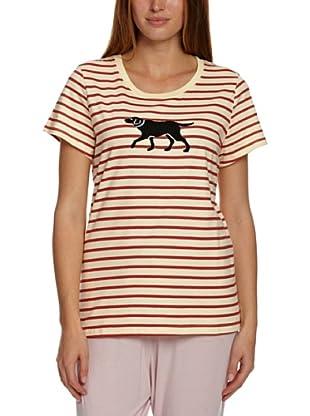 Hatley  Camiseta Eno (Tracia) (Rojo / Crudo)
