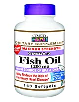 21st Century Fish Oil 1200 Mg Softgels, 140-Count