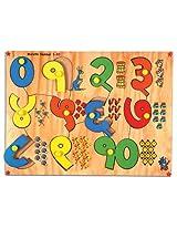 Skillofun Wooden Marathi Number Picture Tray (1-10)