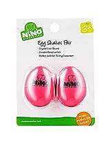 Nino Plastic Egg Shaker Pairs Strawberry Pink