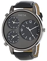 Breda Men's 1627-black Mitchell Multi Time Zone Watch