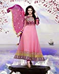 Pink Top Georgette with Santoon Bottom & Chiffon Dupatta With Embroidery Anarkali Salwar Kameez Suit
