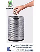 Karma Open Perforated 7x10 Stainless Steel Dustbin